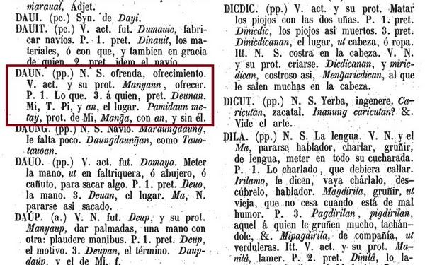 Bergaño, Diego. (1860). Vocabulario de la Lengua Pampanga en Romance. Manila: Imprenta de Ramirez y Giraudier. (Reprint of original 1732).