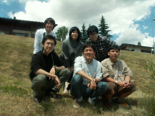 With the Austronesian Linguists from Japan at the 11 ICAL in Aussois, Savoy, France, 2009 June 26.